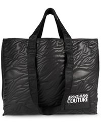 Versace Jeans Couture Women's Textured Open-top Tote - Black