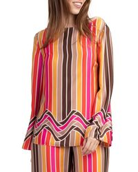 Trina Turk Dawn Striped Blouse - Pink