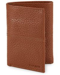 Cole Haan - Leather Trifold Wallet - Lyst
