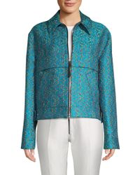 Marni Floral Jacquard Jacket - Blue