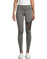 Electric Yoga Star Heathered Leggings - Gray