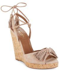 Aquazzura | Wild One Leather Wedge Sandals | Lyst