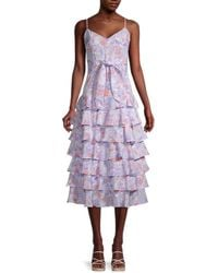 Likely Ariella Floral-printed Dress - Purple