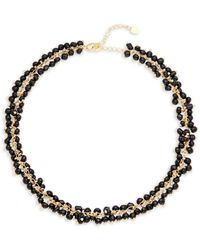 Elise M - Goldtone Beaded Necklace - Lyst