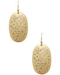 Arthur Marder Fine Jewelry - Gold & Champagne Diamond Disk Earrings - Lyst
