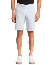 Saks Fifth Avenue Collection Striped Seersucker Shorts - Blue