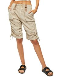 Free People Cassidy Cargo Shorts - Natural