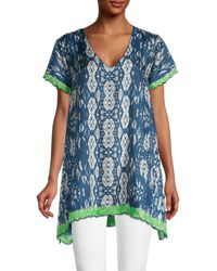 Johnny Was Puente Silk Tunic - Blue