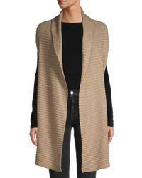 Donna Karan Embellished Sleeveless Cardigan - Multicolour