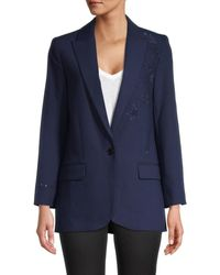 Zadig & Voltaire Women's Notch Blazer Jacket - Sailor - Size 36 (s) - Blue