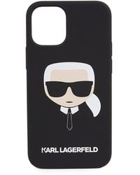 Karl Lagerfeld Liquid Silicone Iphone 12 Mini Case - Black