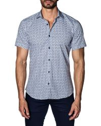 Jared Lang - Printed Cotton Button-down Shirt - Lyst