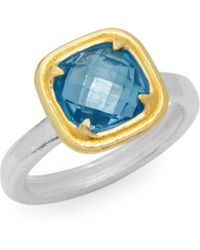 Gurhan - Blue Topaz And Sterling Silver Solitaire Ring - Lyst