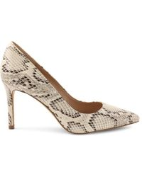 BCBGeneration Women's Mid-heel Court Shoes - Ivory Snake - Size 6.5 - White