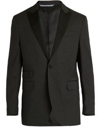 Michael Bastian Tonal Paisley Stretch-wool Tuxedo Jacket - Black