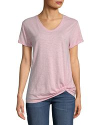 Saks Fifth Avenue - Knot Short-sleeve Tee - Lyst