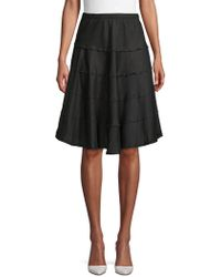Lord + Taylor - Panelled A-line Skirt - Lyst