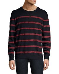 ATM Broken Stripe Cotton Sweatshirt - Black