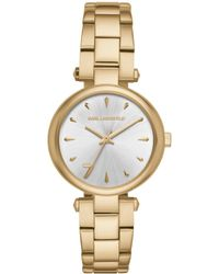 Karl Lagerfeld - Aurelie Stainless Steel Bracelet Watch - Lyst