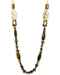 "Alexis Bittar - Elements Semi-precious Multi-stone Beaded Necklace/40"" - Lyst"