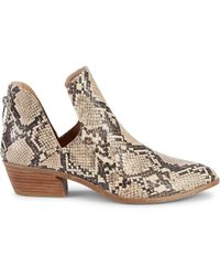 Steve Madden Snakeskin-embossed Booties - Brown