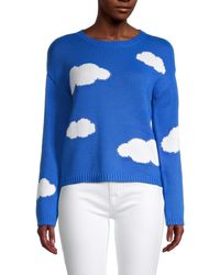 525 America Women's Clouds Sweater - Lagoon - Size Xs - Blue