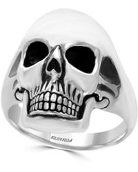 Effy Gento Sterling Silver Skull Ring - Metallic