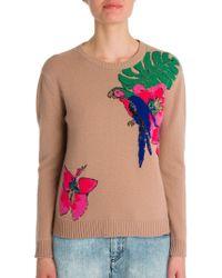 Valentino Tropical Dream Embroidered Cashmere Sweater - Multicolor