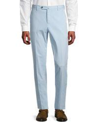 PT01 Slim-fit Flat Front Trousers - Blue