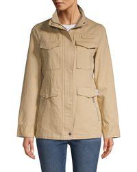 Sam Edelman Long-sleeve Cotton Twill Jacket - Natural