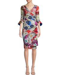 La Petite Robe Di Chiara Boni - Floral-print Sheath Dress - Lyst