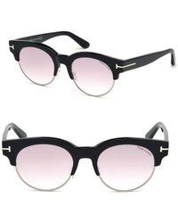 ca65c2298fb Tom Ford - Henri 52mm Round Cat-eye Sunglasses - Lyst