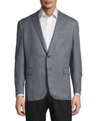 Ralph Lauren Purple Label Textured Wool-blend Jacket - Gray