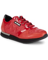 Love Moschino - Quilted Platform Sneakers - Lyst