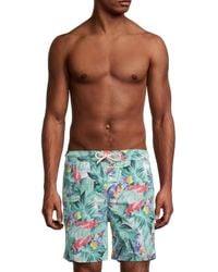 Brooks Brothers Tropical-print Swim Shorts - Green