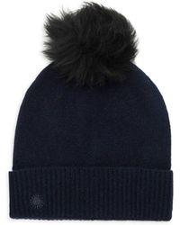 UGG Shearling Pom-pom Wool & Cashmere Beanie - Blue