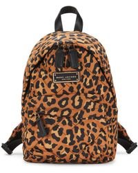 Marc Jacobs Mini Leopard-print Backpack - Brown