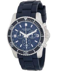 Victorinox Maverick Stainless Steel Chronograph Watch - Blue