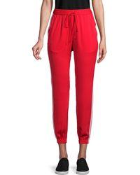 BCBGeneration Side-striped Jogger Pants - Red
