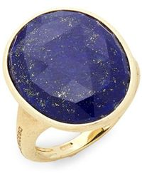 Marco Bicego - Lunaria Yellow Gold & Lapis Statement Ring - Lyst