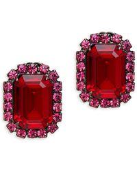 Kenneth Jay Lane Faux Ruby Clip-on Earrings - Multicolour