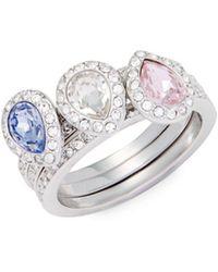 Swarovski - Christie Crystal Ring - Lyst
