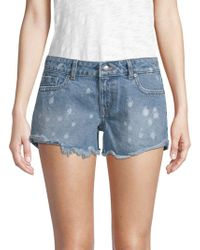 DL1961 - Renee Distressed Cotton Shorts - Lyst