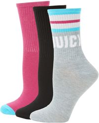 Juicy Couture 3-pack Stretch Crew Socks - Gray