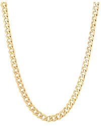 """Saks Fifth Avenue Basic 18k Goldplated Sterling Silver Curb Chain Necklace/24"""" - Metallic"""