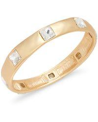 Kenneth Jay Lane 22k Goldplated & Crystal Bangle Bracelet - Multicolour