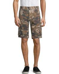 Buffalo David Bitton - Camouflage Cotton Cargo Shorts - Lyst