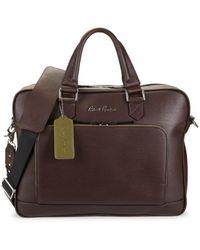 Robert Graham Men's Titian Leather Briefcase - Brown
