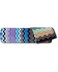 Missoni Lara 2-piece Bath & Hand Towel Set - Nero Multi - Blue