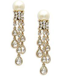 Heidi Daus Women's Goldtone, Glass Pearl & Crystal Drop Earrings - Metallic